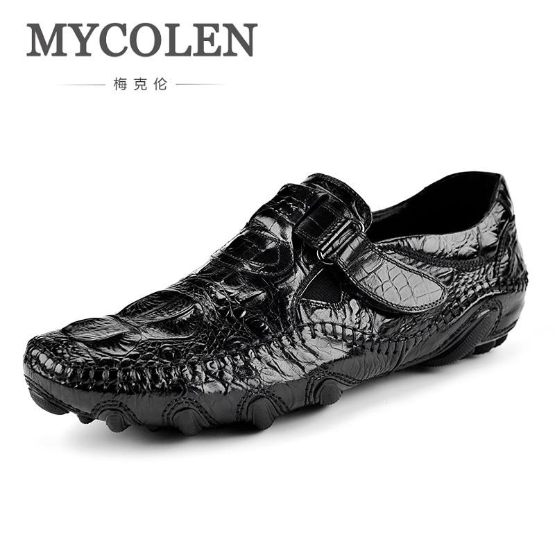 MYCOLEN The New Listing Men Casual Shoes Men Breathable Doug Personality Crocodile Gentleman Man Shoes Erkek Ayakkabi Deri туфли deri