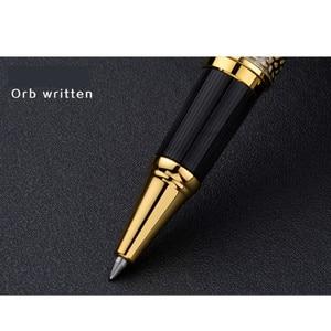 Image 4 - Baoer507 Ballpoint Pen Rollerball Pen Gift Caneta Gel Pen Luxury Gift Stationery Beautifully Embossed 0.5mm Black Pull Cover Pen