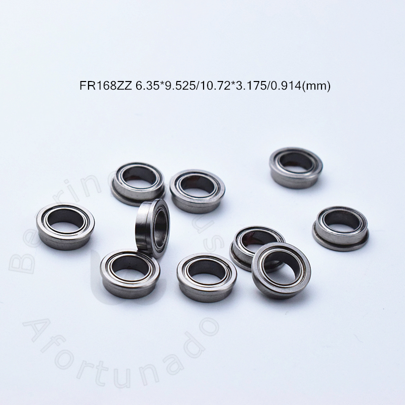 FR168ZZ 6.35*9.525*10.72*3.175*0.914(mm) 10pieces Bearing Flange Bearings   FR168ZZ Chrome Steel Deep Groove Bearing
