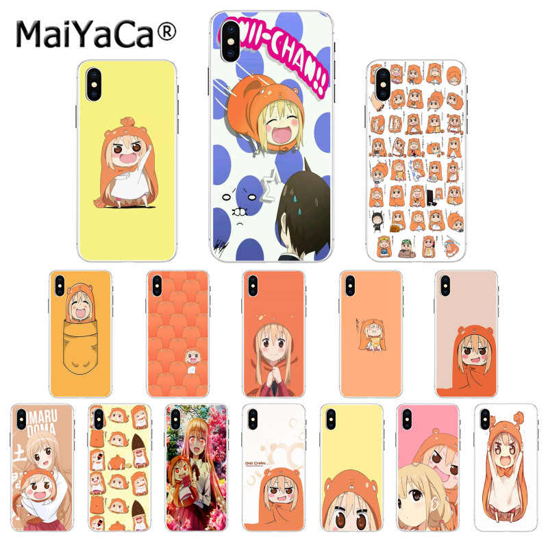 Maiyaca Lucu Umaru Chan Anime Hitam Ponsel Case Penutup Shell untuk Apple iPhone 11 Pro 8 7 66S Plus X XS Max 5S SE XR Cover