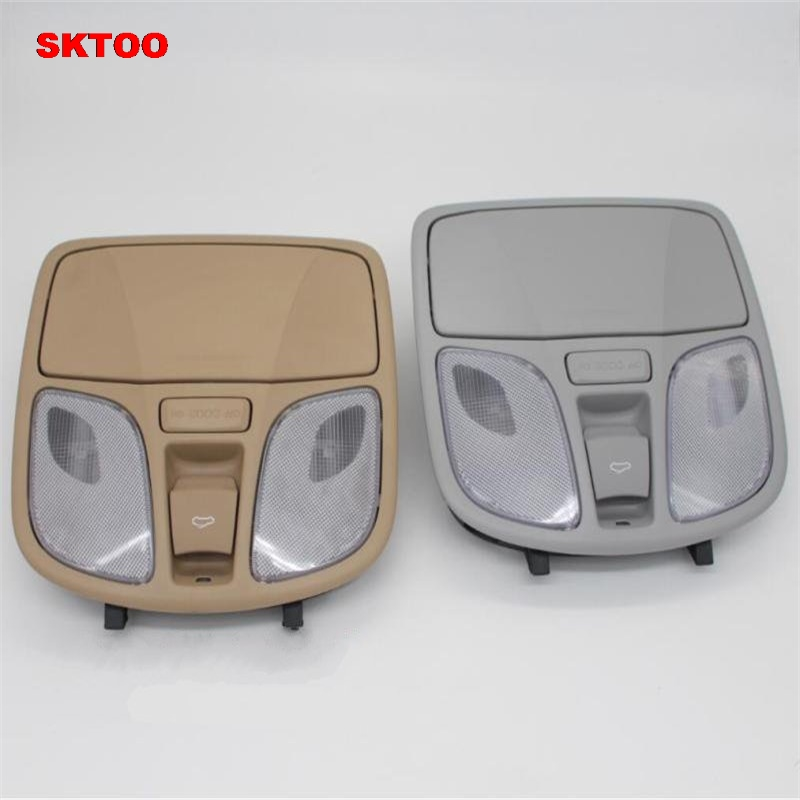 SKTOO For Hyundai Sonata eight generations Dome light/reading lamp /sunroof switch/car glasses case Wire plugs OEM 92810-4QXXX starpad for high quality general purpose for chery former interior dome light without the sunroof control switch wholesale