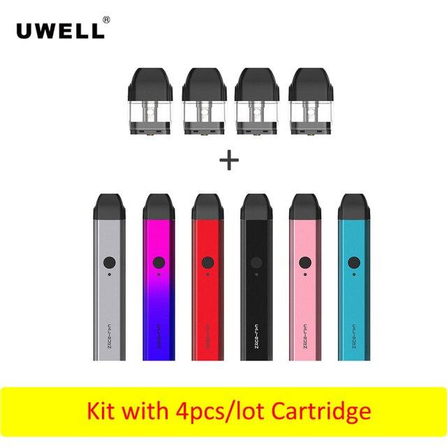 Mới nhất Original Uwell Caliburn Hệ Thống Kit Pod Với 4 Pcs Hộp Mực 2 ml được xây dựng trong 520 mah Pin Vape Tank atomizer E-Thuốc Lá