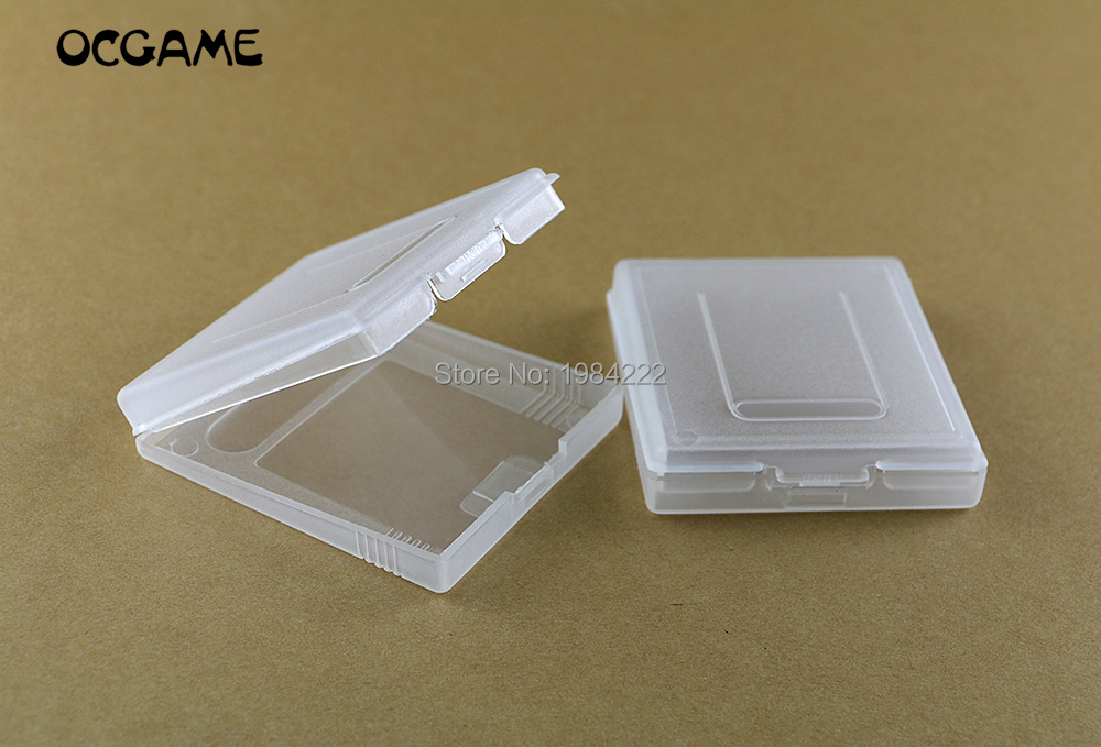 OCGAME 100pcs lot Plastic Game Cartridge Case game case For GameBoy Color Pocket GB GBC GBP