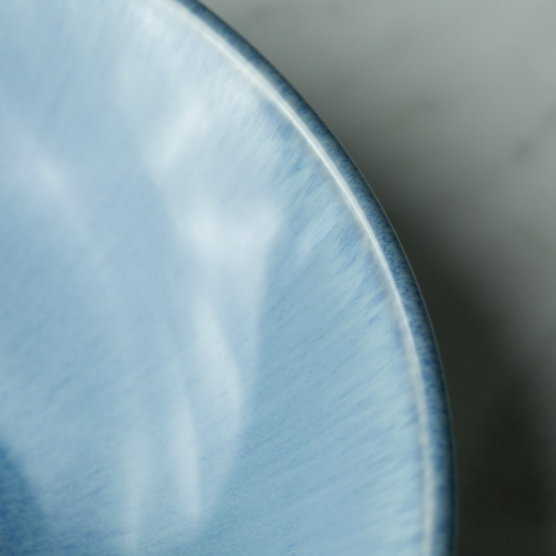 1PC KINGLANG 1100ml Ceramic Retro Big Ramen Bowl Salad Bowl