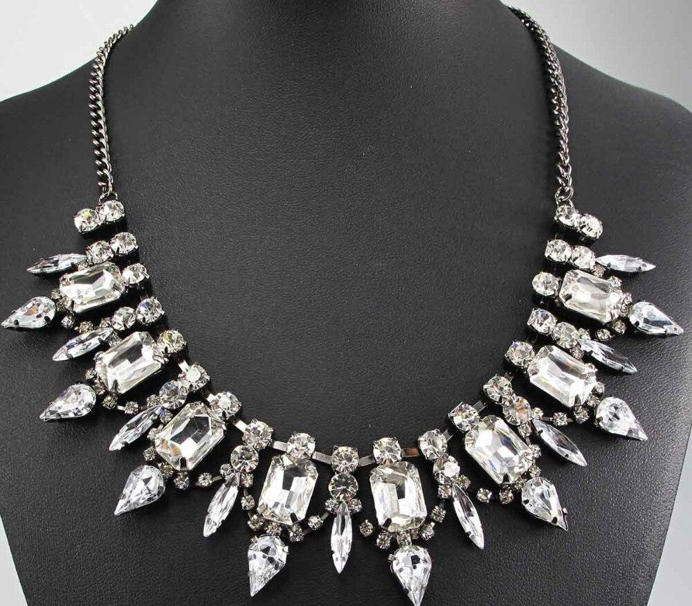 82e53391aa5e Cheap Nuevo collar de moda hermosa joyería de cristal ra Departamento declaración  collar mujeres gargantilla collares