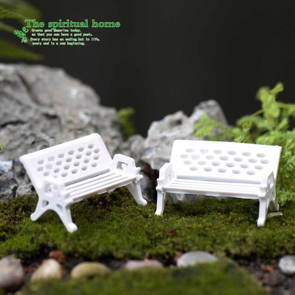 3 шт. высокое качество мини садовое украшение миниатюрное сиденье парка ремесло Сказочный кукольный домик Декор Горячая Распродажа A30312