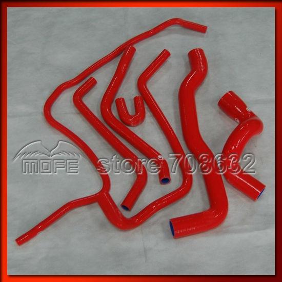 7 5m expandable hose MOFE 7pcs Red Silicone Radiator Hose Kit for Saab 9-3 2.0T 1998~2002