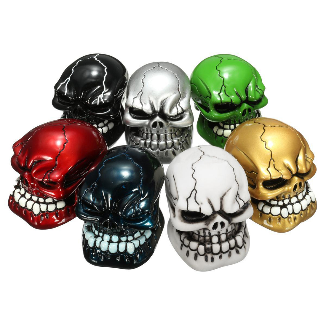 EDFY-Car Carved Manual Skull Gear Stick Shift Knob Lever Shifter M8/M10/M12 ...