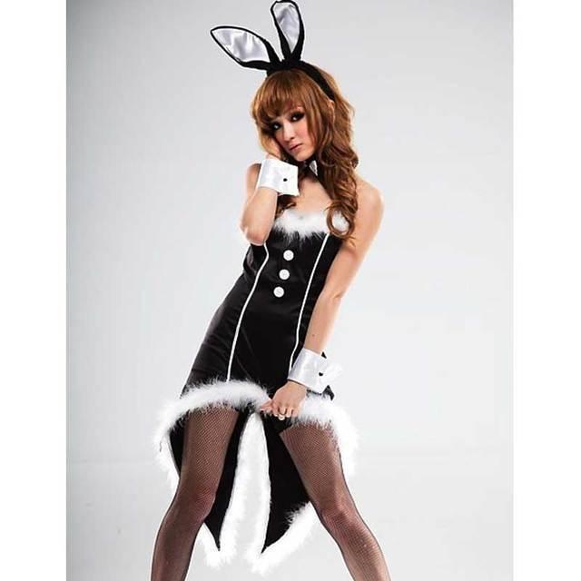 15770d256955f Sexy New Women Christmas Sleeveless Strapless Swallowtail Bunny Feather Bar  Party Uniforms Temptation Girls xmas Dance Costume