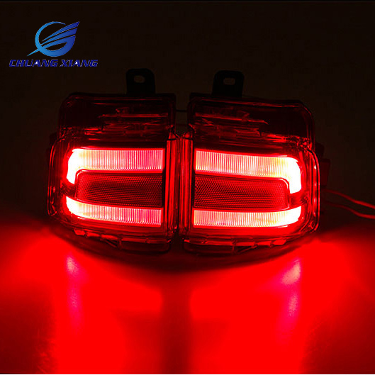 Chuangxiang 2PCS LED Rear Tail Fog Lamp For Toyota Land Cruiser 200 FJ200 LC200 Accessories 2016 2017 original bare uhp210w 170w 0 9 e20 9 bulb with housing 5j j8g05 001 for benq mx618st projector 180 day warranty