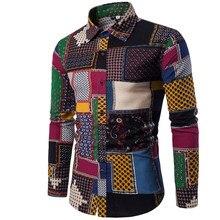 Ropa moda camisa masculina Lino vestido Camisas Slim Fit Turn-Down hombres  camisa de manga ea2724187d91