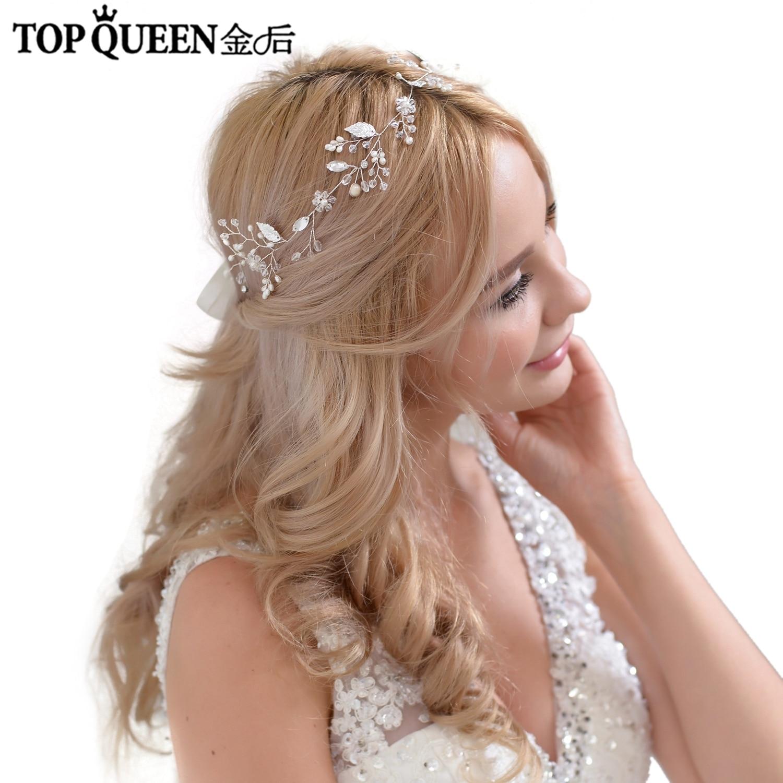 TOPQUEEN HP71 Crystal Gold Leaves Bridal Hair Vine Wedding Headband Bride Bridesmaid Headpieces For Wedding Accessories