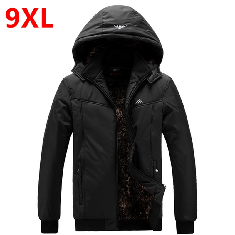 ФОТО 2017 male plus size 4XL 5XL 6XL 7XL 8XL 9XL wadded jacket plus size cotton-padded jacket thickening winter outerwear 160 bust