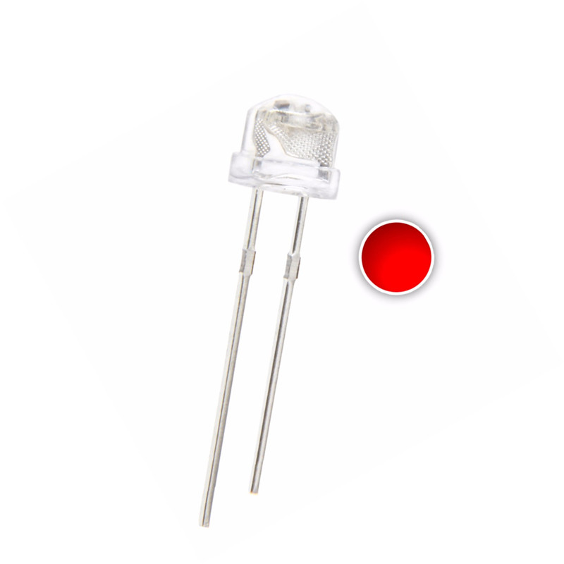 100PCS 5MM Straw Hat Red LED 3.0V 20mA DIP-2 WATER CLEAR Ultra Bright 2 Pins Lamps Light Beads