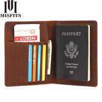 Cow Leather Wallet Man Credit Card Holder Travel Card Holder Purses For Male Coin Purse Passport Holder
