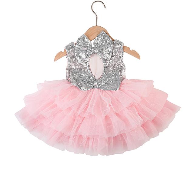 e2fd51466d5 Aliexpress.com : Buy SALE !! Toddler girl dress / Silver Sequins double  bows pink tulle / back off dress /Party dress /Gold sequins and coral tulle  ...