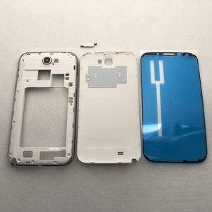 Image 2 - Pour Samsung Galaxy Note 2 II N7100 N7105 boîtier complet couvercle de batterie cadre moyen note2 SM N7100 7100 couverture arrière
