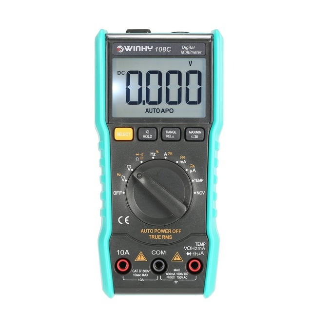 Dropshipping Digital Multimeter Tester True RMS AC/DC Volt Amp Ohm Frequency Temperature NCV Test Meter LED Headlight 108A 108C