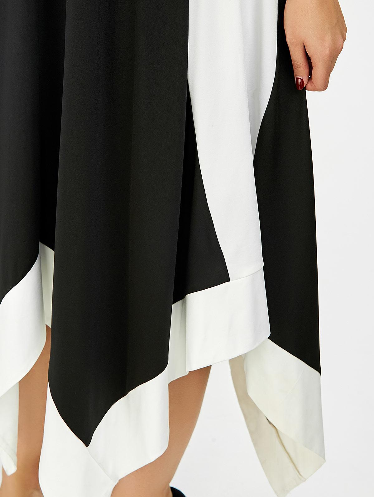 fe429f3ebe8db US $25.44 |Gamiss Women Summer Plus Size Solid Swing Dress Two Tone  Handkerchief Slip Dress Casual Sleeveless Beach Dress Vestido Femme-in  Dresses ...