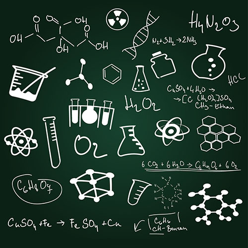 Old School Black Chalkboard Science School backdrop  Vinyl cloth High quality Computer printed children Backgrounds for sale