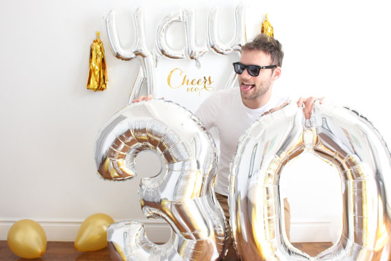 1PC Large 40 inch Gold Number Balloon Big Aluminum Foil Giant Balloons Birthday