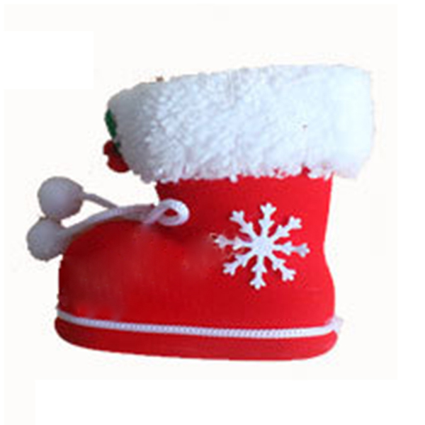 Boutique DODA 1 small Christmas decoration candy boots gift bag (shoes above pattern color style random) Size about: 10 * 8.5cm