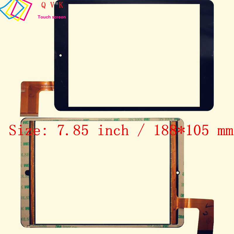 Black 7.85 Inch for SUPRA M846G/Explay Party/Explay SM2 3G/RoverPad Sky 7.85 touch screen glass digitizer panel Free shipping new 8 inch explay surfer 8 31 3g digitizer touch screen galss sensor panel repairment free shipping