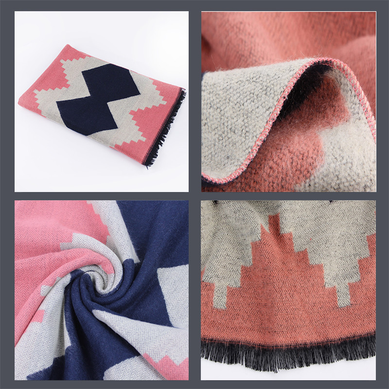 Big Geometric Cashmere Scarf | Ponchos and Capes | Up to 60% Off Now