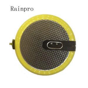 Image 2 - Rainpro 2 Pz/lotto LIR2450 Orizzontale Piede di Saldatura Delle Cellule Della Moneta Della Batteria 3.6V Ricaricabile Ricarica Della Batteria 2450