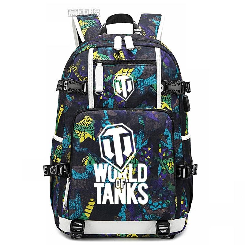 Nouveau monde des réservoirs sac à dos pour ordinateur portable hommes sacs de voyage USB lumineux Oxford sac à dos cartable
