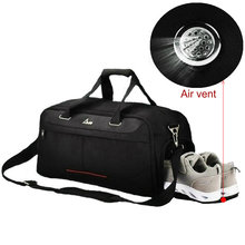 Men Sport Gym Bags With Air Vent Women Fitness Training Shoe Compartment Swimming Outdoor Travel Duffel Bag