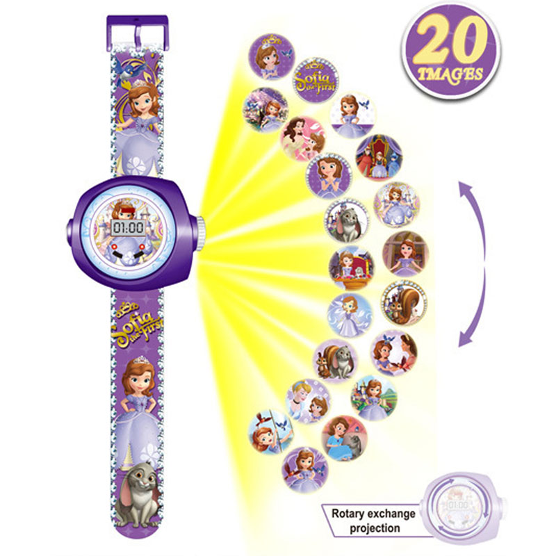 N001 Can The Projection Kids Watches Spiderman  Toys For Boy Girl Children Watch