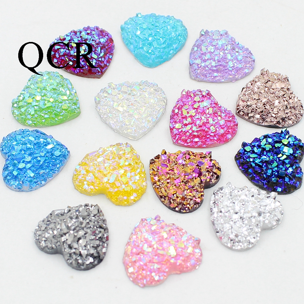 Hot DIY 30pcs resin Shining crown Bead Flat Back Scrapbook Craft Flatback beads