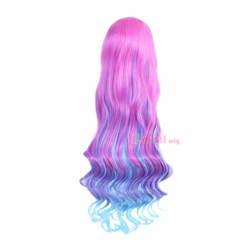 Парик л-электронной игровой персонаж LOL Miss Fortune Косплэй Искусственные парики Длинные Волнистые жаропрочных Синтетические волосы Perucas Косплэй парик