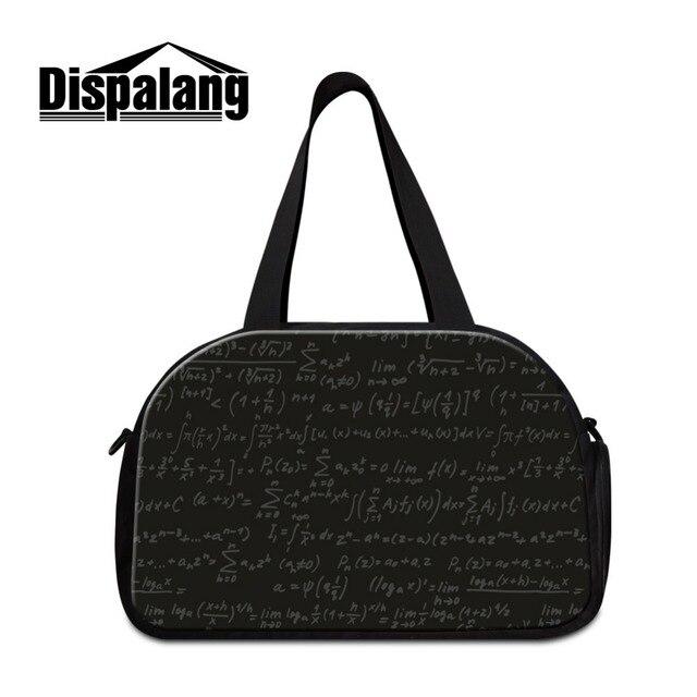 Simples Design Preto mala de viagem da bagagem saco com letra impressa desportivo compartimentos duffle bags para as mulheres bolsas de viagem para adolescentes
