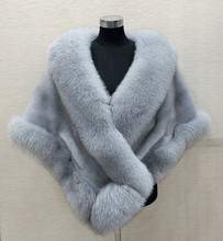 8 colours Grey/blue/white/black faux fur wrap bridal shrug stole shawl cape