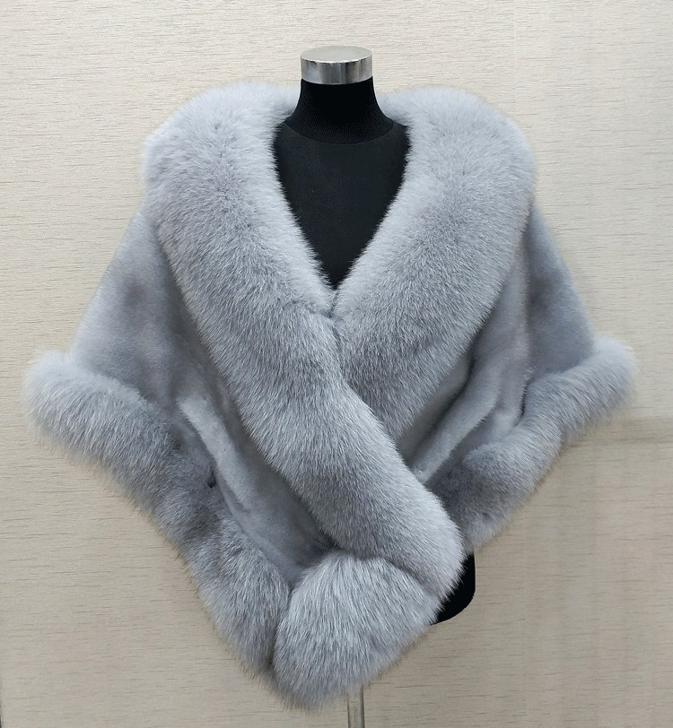 8 couleurs gris/bleu/blanc/noir fausse fourrure wrap mariée fausse fourrure haussement d'épaules fausse fourrure étole châle cape