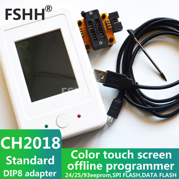 CH2018 Color screen offline programmer SPI programmer 24/25/93EEPROM DATA SPI FLASH c8051f offline offline burning download programmer supports id and frequency limit