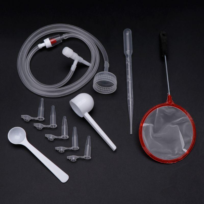 1 Set Brine Shrimp Incubator DIY Hatching Tools Aquarium Incubate System Cap Valve Scoop Net Hose Kit Professional Simple