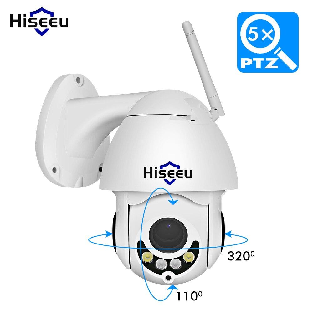 Hiseeu PTZ WIFI IP Caméra 1080 p 5X ZOOM Extérieure Étanche Dôme IP Sans Fil Caméra 2MP Nuit Vision Caméra de Sécurité app Vue