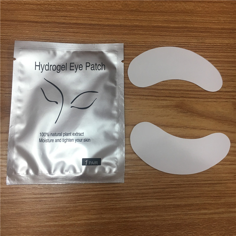 HTB1lhrFAKuSBuNjSsplq6ze8pXaL 100pairs/pack New Paper Patches Eyelash Under Eye Pads Lash Eyelash Extension Hydrating Eye Tips Sticker Wraps Make Up Tools