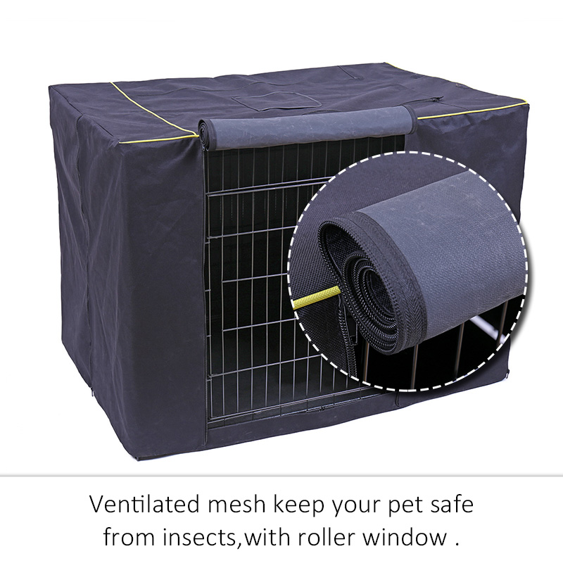 Washable Pet Dog Cage Cover Foldable Cat House Cover Kennel Accessories Outdoor Pet Kennel Crate Cover Durable Puppy Cat Cage