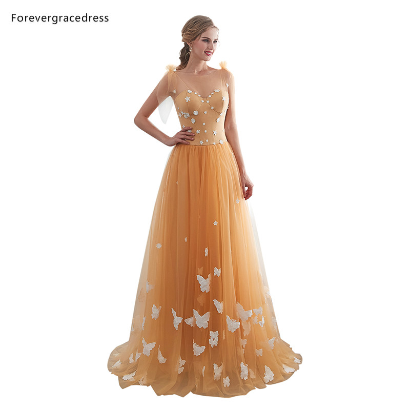 Forevergracedress Sexy Gold   Prom     Dresses   2019 A Line Backless Sleeveless Long Evening Party Gowns Plus Size Custom Made