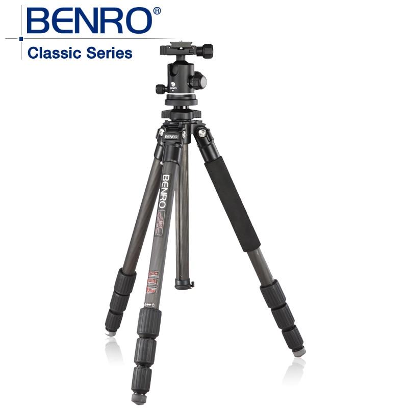BENRO C1580TB1 Pro Carbon Fiber Tripod kitsWith B1 Ballhead Bubble Level Monopod 4 Section+ Carrying Bag Kit, Max loading 12kg штатив для фотокамеры neewer pu60 slr arca benro b0 b1 b2 j1 j0 ballhead