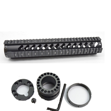 """12"""" Length Free Float Rail Mounting System Quad Rail Handguard with End Cap M16 / AR-15 Hunting Accessories"""