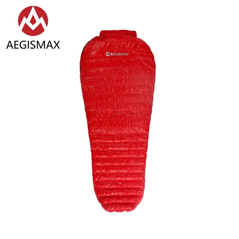 AEGISMAX Nano Ultra lumière Camping Maman 95% Duvet d'oie Blanche sac de couchage 3 Saison sac de randonnée de Couchage 800 FP