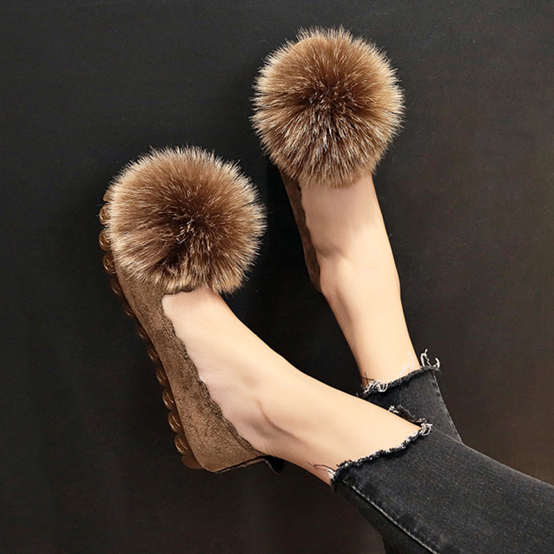 Women Flats sheos 2018 Fur Loafers Plush Slip on Shoes Ball Woman Flat Faux Fur Ladies Shoes Fur Ball Loafer New Style Boat ShoeWomen Flats sheos 2018 Fur Loafers Plush Slip on Shoes Ball Woman Flat Faux Fur Ladies Shoes Fur Ball Loafer New Style Boat Shoe