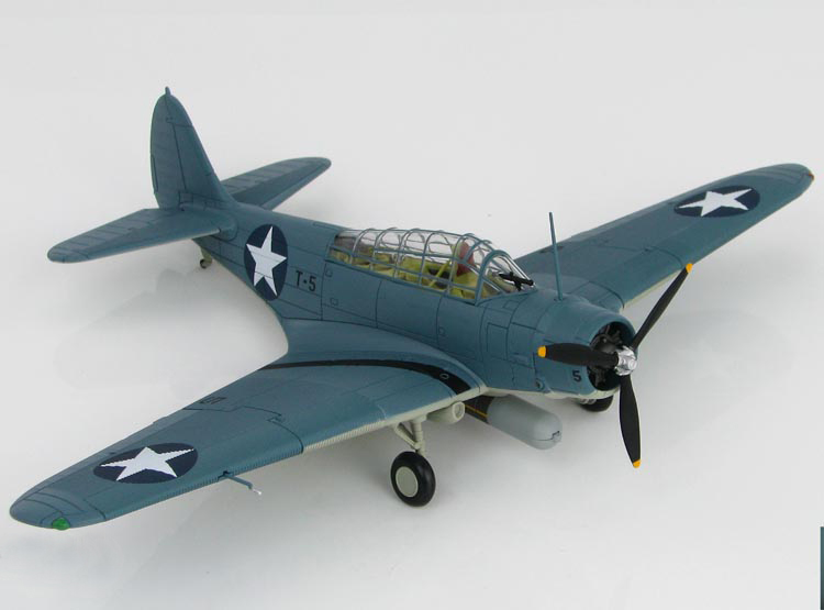 Fine HM 1:72 SM8008 TBD-1 Alloy torpedo bomber model Hornets aircraft carrier VT-8 squadron 1942 Midway Battle Collection