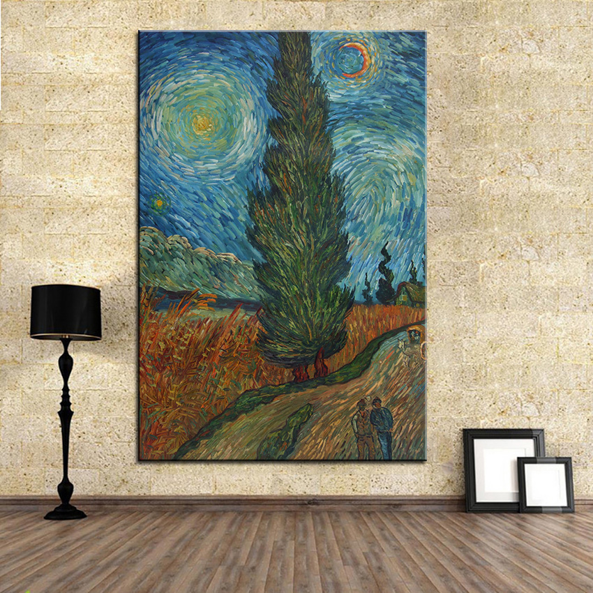 Extra Large wall Painting of wheat fields Home Office Decoration paint Canvas Prints No Framed Canvas wall picture Giclee art