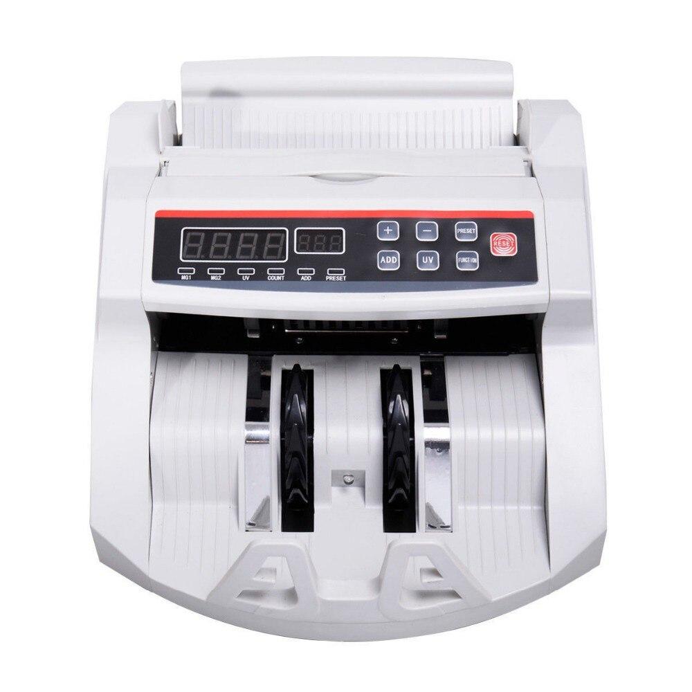 Счетчики Контадор Podometro Новый ЖК Дисплей деньги счетчик Билл Счетная машина детектор Uv & Mg наличных банка